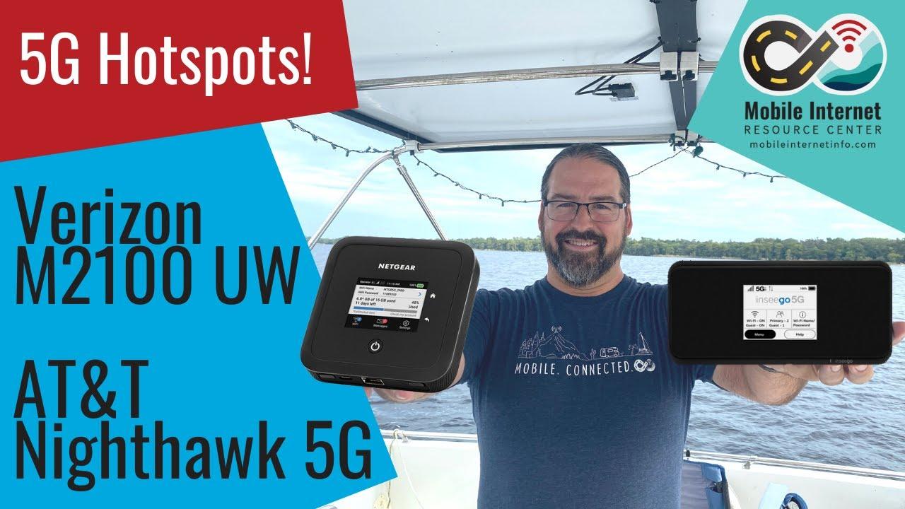 Tale of Two 5G Mobile Hotspots - Verizon MiFi M2100 5G UW | AT&T Nighthawk 5G Hotspot Pro