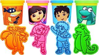 Gambar cover Play-Doh Dora the Explorer Molds & Surprise Eggs, Learn Colors, nursery rhymes