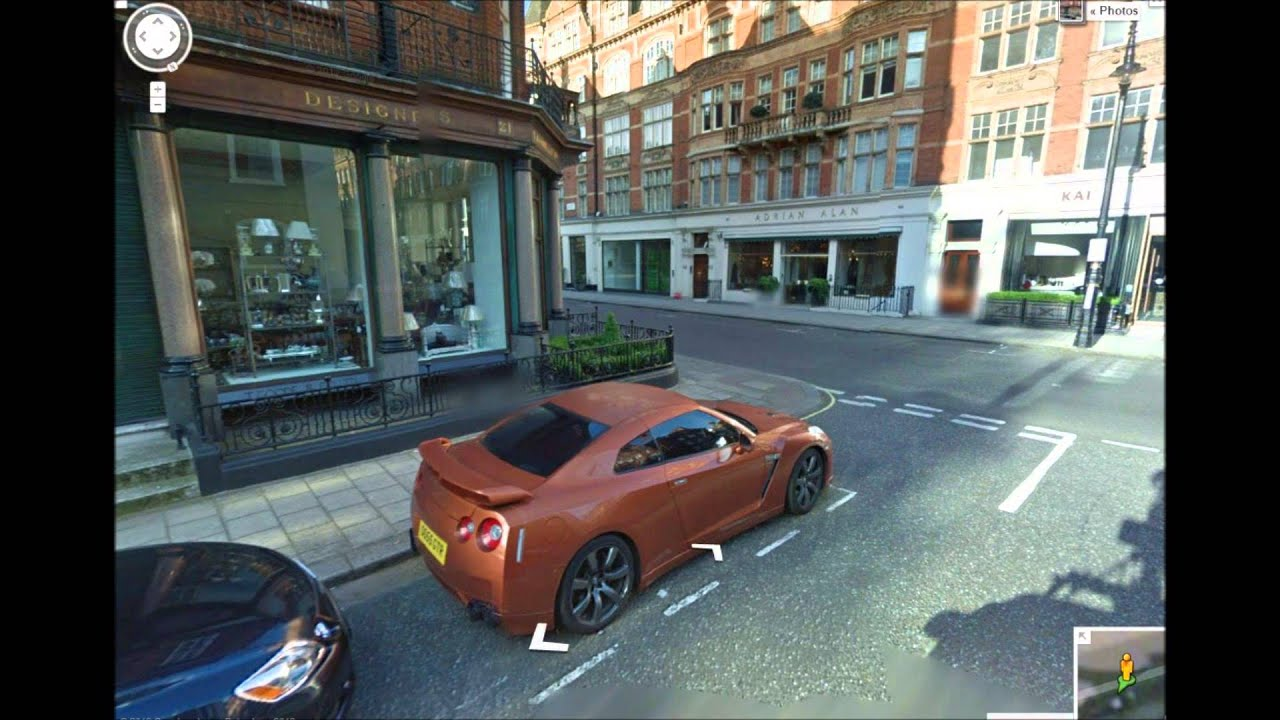 Google Street View London Supercars Gtr Ferrari And More