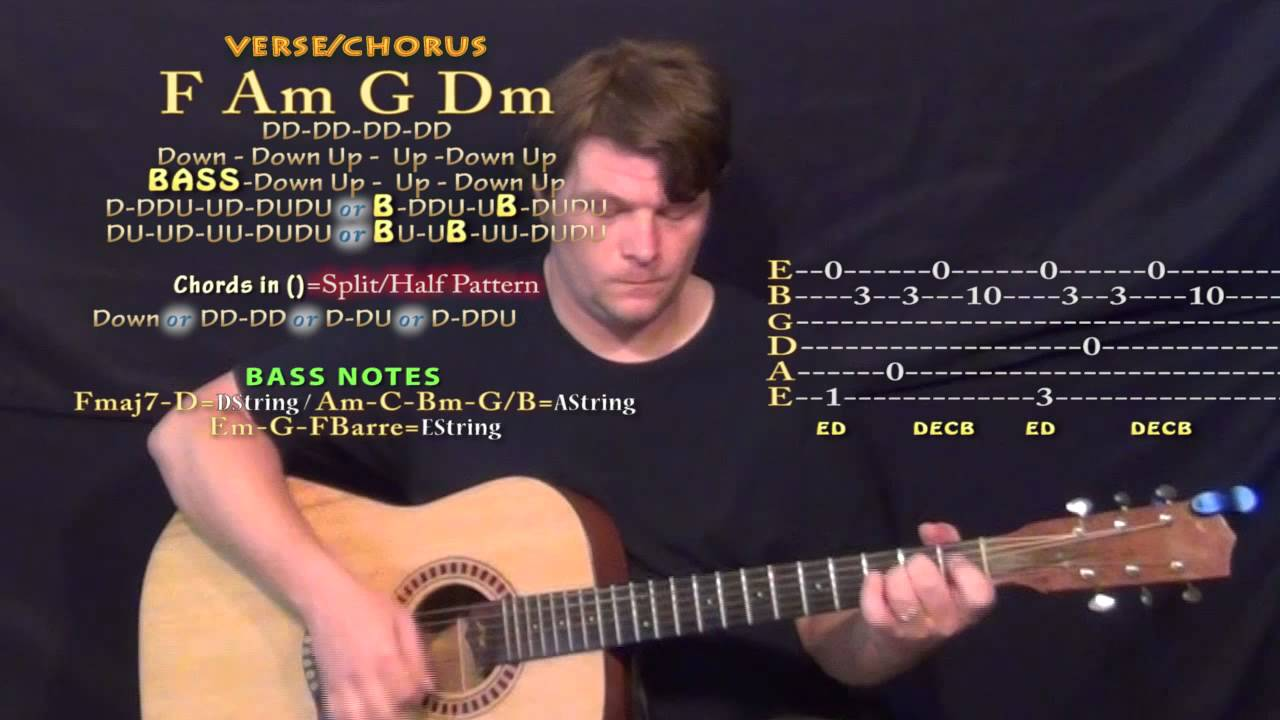 Drive Halsey Guitar Lesson Chord Chart Youtube