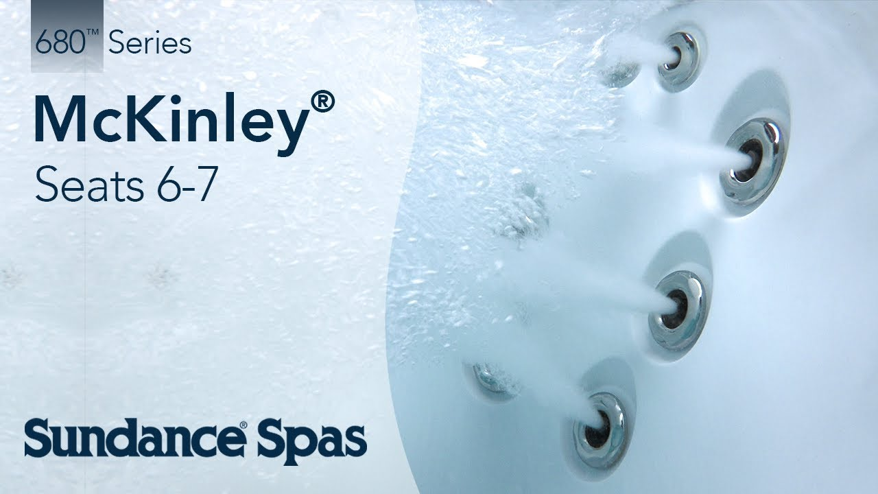McKinley® Hot Tubs: 680™ Series Spa (seats up to 7) - YouTube
