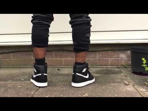 7628ba5f65a Nike Air Jordan 1 black white ying yang on feet - YouTube