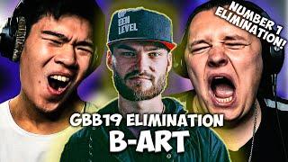 CHEZAME & SXIN React | B-ART | Grand Beatbox Battle 2019 | Solo Elimination