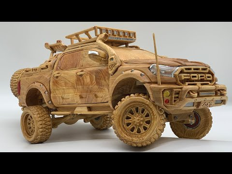 Wood Carving – FORD RAPTOR Special Edition – Woodworking Art