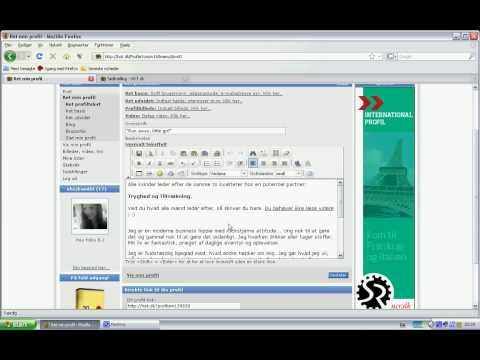 Netdating - Profiltekst