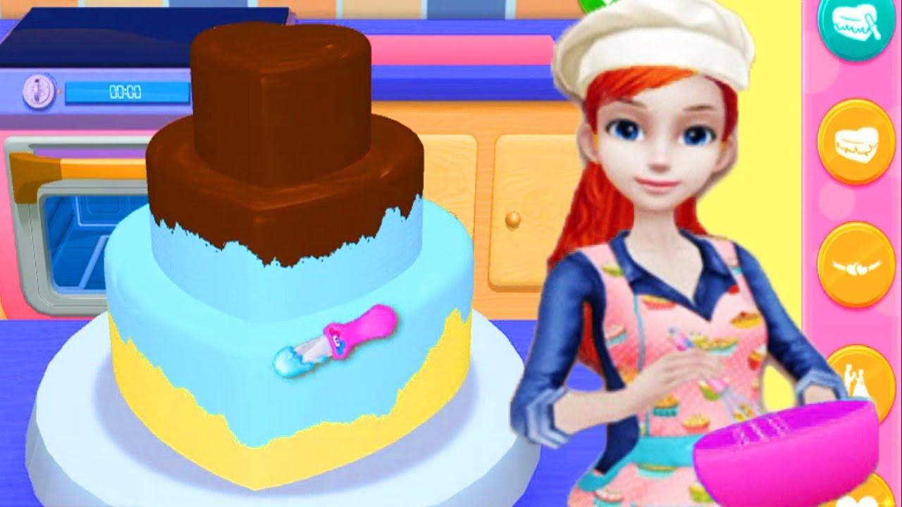Main Masak Masakan Membuat Kue Mainan Anak Perempuan Youtube