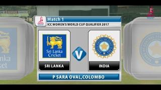 Sri Lanka v India, ICC Women's World Cup Qualifier, 2017