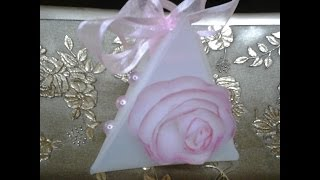 Best Out of Waste Plastic Triangle gift box and roses
