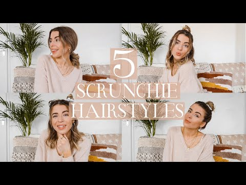 5 EASY HAIRSTYLES USING SCRUNCHIES // Charlotte Olivia - YouTube