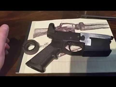 Diesel Punk AR15 Video 1: US- Lighter than Air Corps alternate timeline rifle