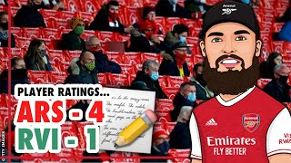 ARSENAL 41 RAPID VIENNA PLAYER RATINGS  | GOOD PERFORMANCE & NICE TO SEE FANS BACK