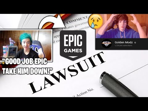 NINJA Reacts TO Epic SUING 1.7M Subs Youtuber For Selling Cheats! (Fortnite Moments)