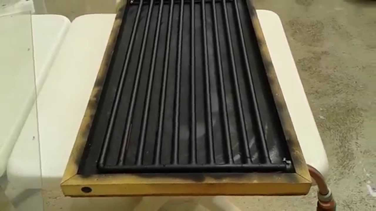Solar Water Heater From Copper Pipes - 71 U00b0c