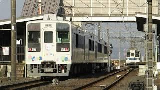 634型団体臨時列車と850型行き違い