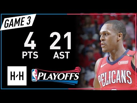 Rajon Rondo Full Game 3 Highlights Warriors vs Pelicans 2018 NBA Playoffs - 4 Pts, 21 Assists!