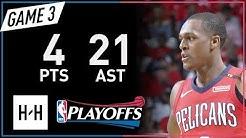 Rajon Rondo Full Game 3 Highlights Warriors vs Pelicans 2018 NBA Playoffs - 4 Pts, 21 Assists!