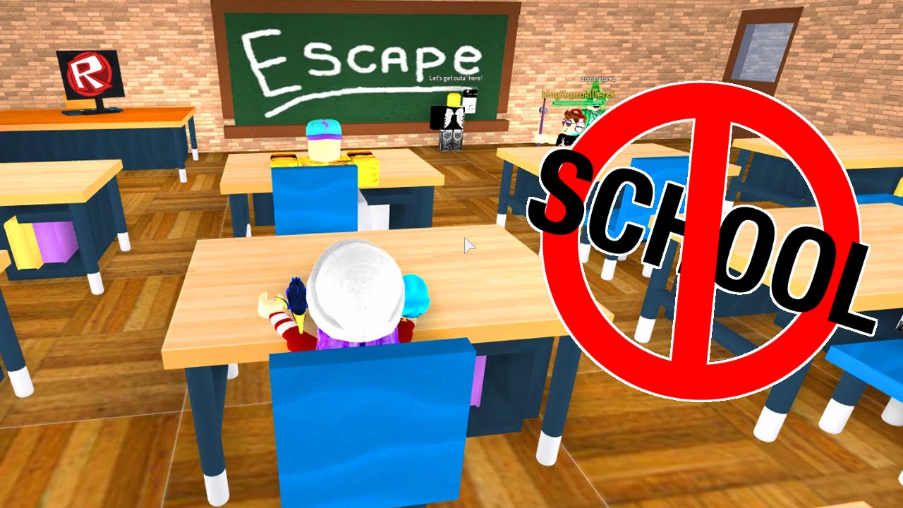 Roblox Let S Play Escape From School Obby Radiojh Games