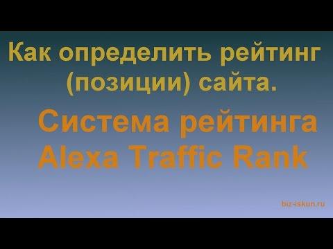 Как проверить позиции сайта. Alexa Rank