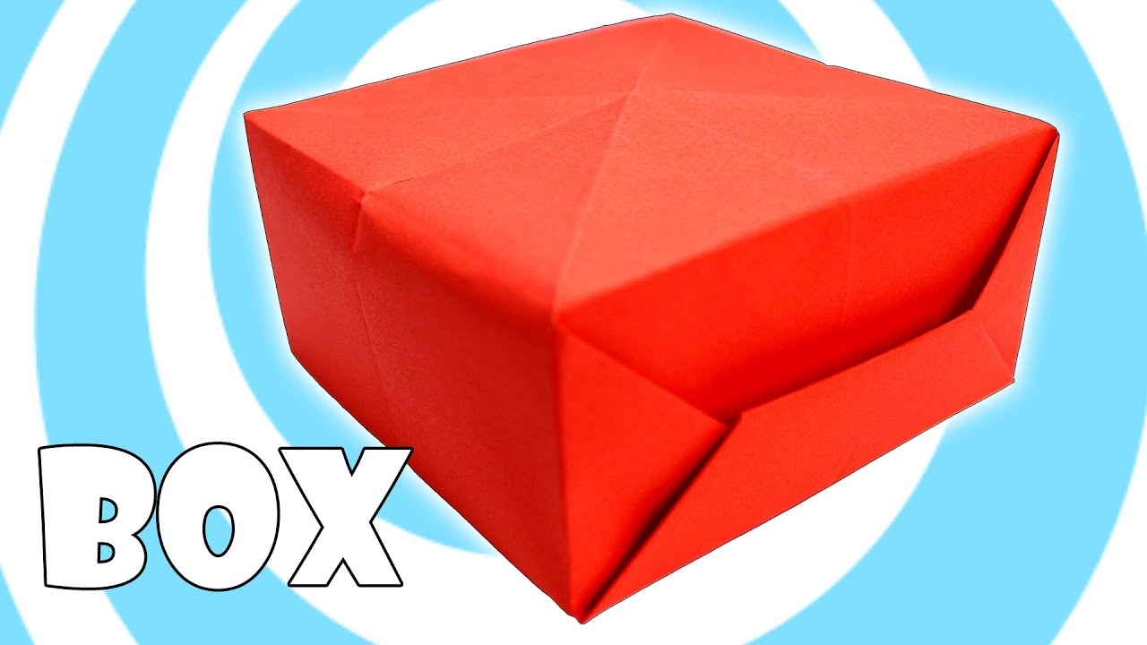 diy printing paper origami box instructions youtube