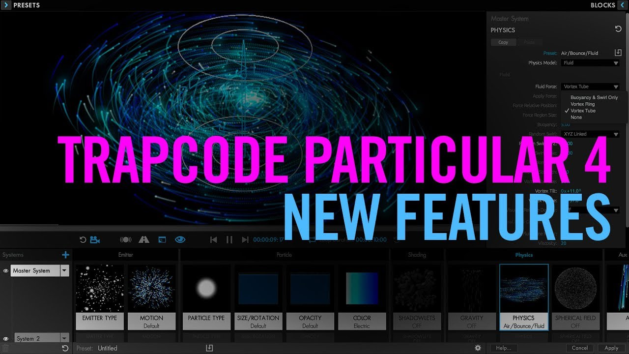 Trapcode Particular 4 New Features Tutorial Youtube