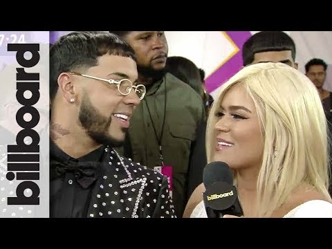Anuel AA & Karol G Talk Touring Together & BBLMA Nominations | Billboard Latin Music Awards