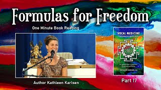 Formulas for Freedom: Vocal Medicine Book Excerpt #17
