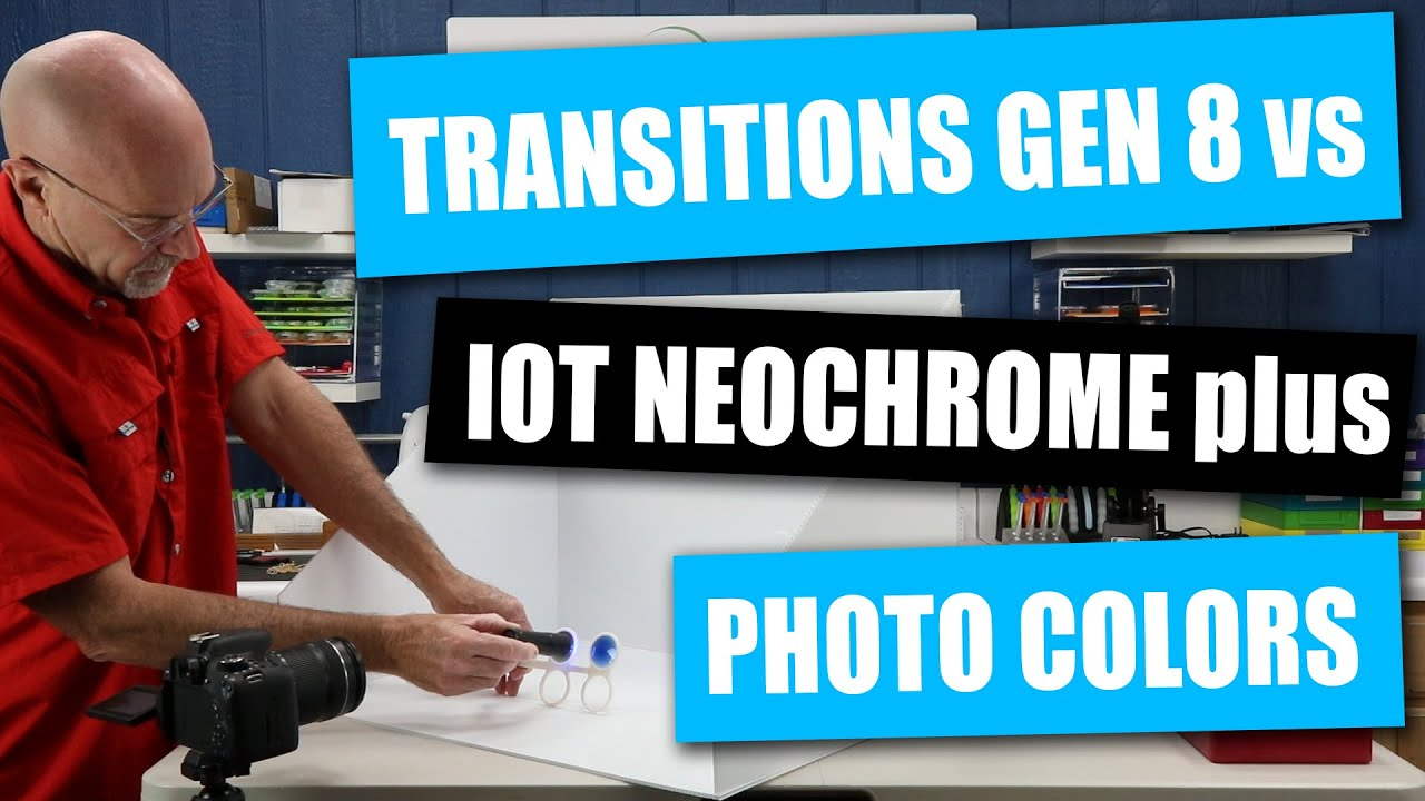 Transitions Gen 8 vs. IOT Neochrome PLUS Color and Flash Mirror Photochromics