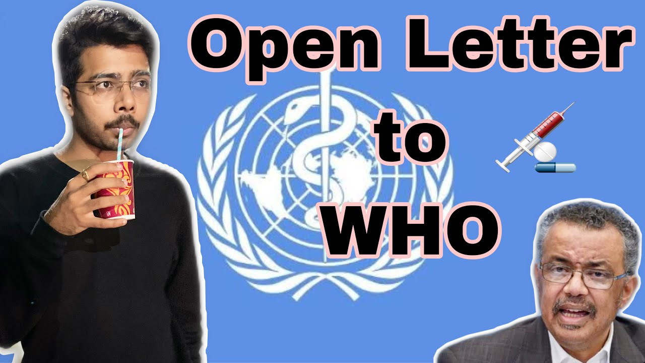 Open letter to WHO | Sushant Ghadge
