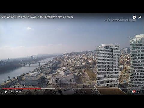 Výhľad na Bratislavu z Tower 115 - Bratislava ako na dlani