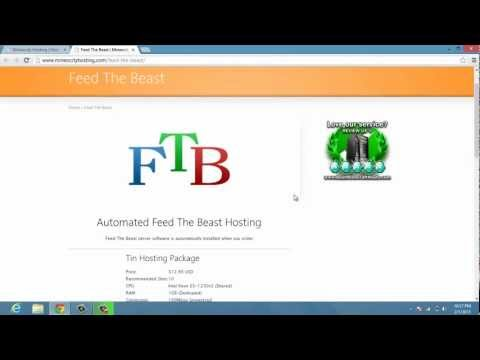 Cheapest Feed The Beast Server Hosting! Mine O City Hosts! (HD)