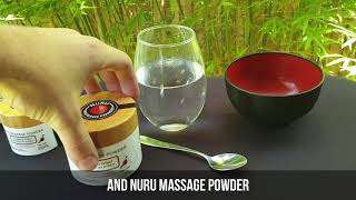 Nuru Massage Powder - Makes Up To 20L - Contains Seaweed Extract And Green Tea Extract - From Japan