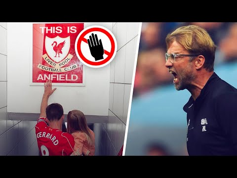 """Why doesn't Jürgen Klopp let his players touch the """"This is Anfield"""" sign before games? - Oh My Goal"""