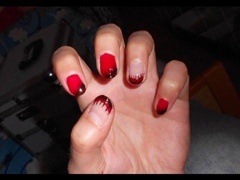 Nails Art Per Unghie Corte E Lunghe Rosso Nero Con Smalti O Gel Uv