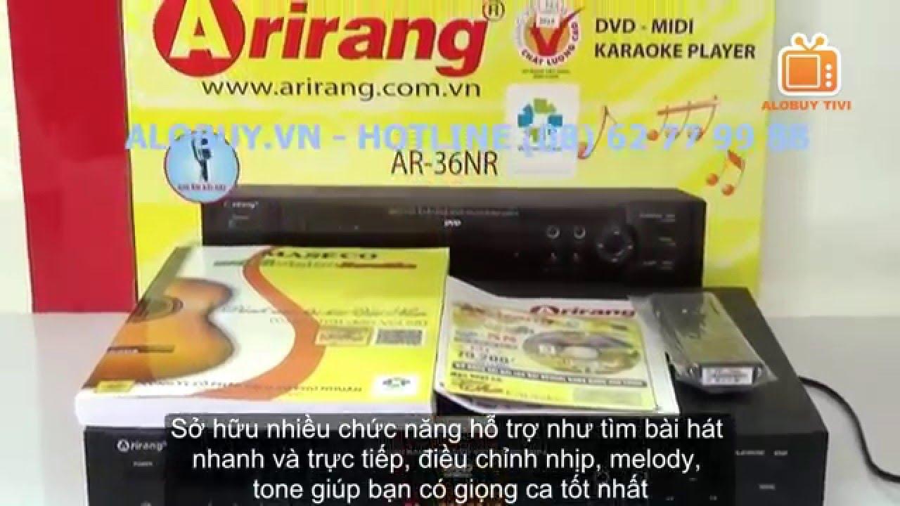 Đầu karaoke Arirang AR-36NR l Đầu DVD Karaoke Kỹ thuật số