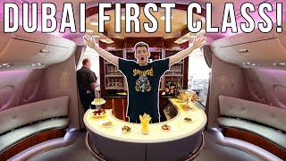 INCREDIBLE First Class AIRPLANE TRIP TO DUBAI! *Private Bar*