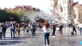 Prague.Soap bubbles/Прага.Мыльные пузыри.2019#romchik channel.