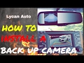 How to install a back up camera