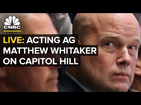 LIVE: Acting Attorney General Matthew Whitaker Testifies Before Congress — Friday, Feb. 8 2019