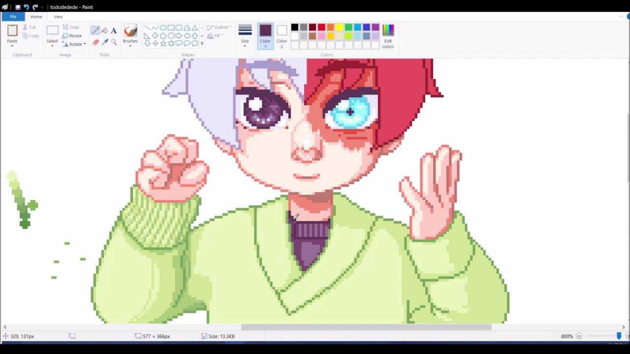how to draw pixel art in paint