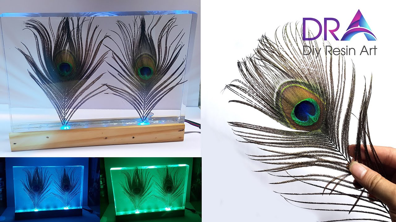Easy making Epoxy Resin lamp Discoloration | Diy Resin Art