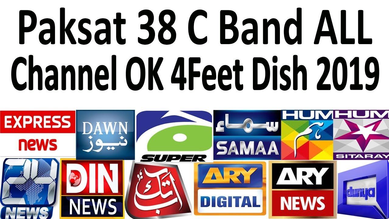 Paksat 38 C Band All channel list on 4feet dish 2019