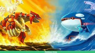 Pokemon Growdon Vs Kyogre battle in hindi legendary pokemon battle Kyogre vs Growdon