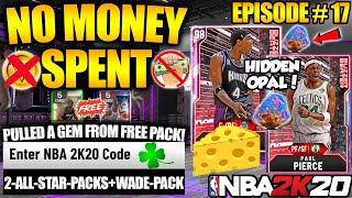 NBA 2K20 NO MONEY SPENT #17 - 3 NEW LOCKER CODES FOR FREE PACKS AND FOUND A HIDDEN OPAL IN MYTEAM