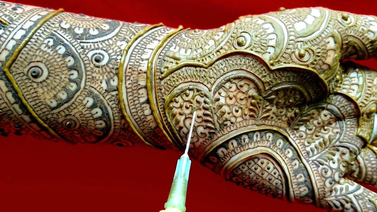Rajasthani mehandi design l rajwadi mhndi l easy simple traditional mehndi design l henna injection