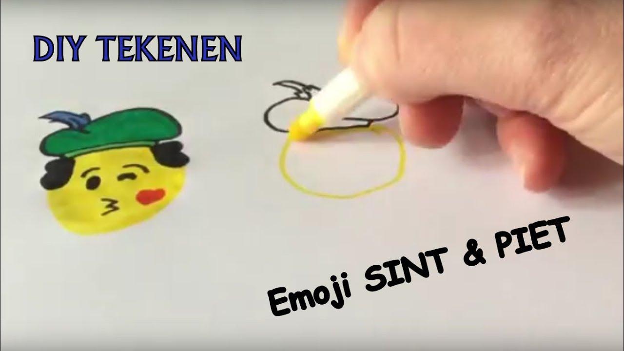 Ongebruikt ✏️😘 Leren tekenen | TEKENEN Emoji SINTERKLAAS & PIET leren SJ-95
