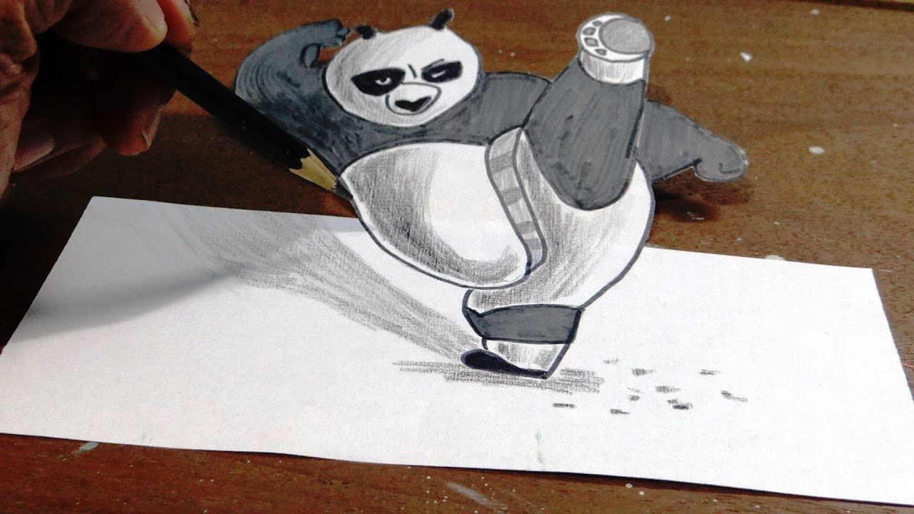 Panda Drawing In Pencil Easy