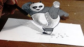 How to draw Kung Fu Panda in 3D | step by step with narration.
