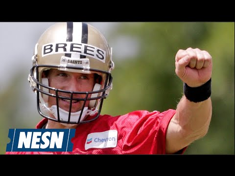 Drew Brees Shows Off Accuracy By Nailing Moving Target