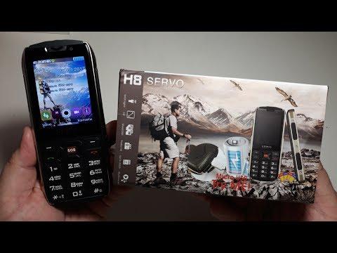 Прахоустойчив телефон за 4 сим карти Servo H8 с Bluetooth, Usb, камера 17