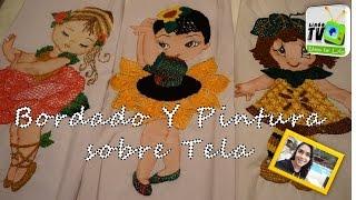 PINTURA Y BORDADO SEBRE TELA │││ PROYECTOS